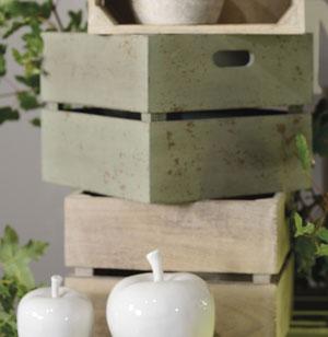 La caisse verte en bois de manguier - les jardins d'Ulysse