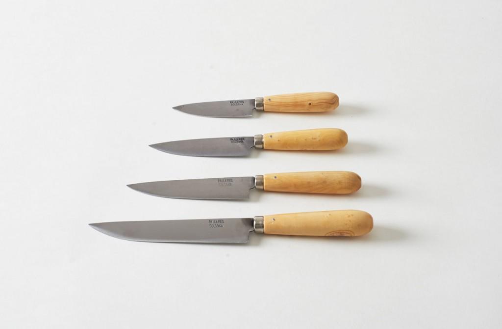 4 couteaux en inox parrales solsona