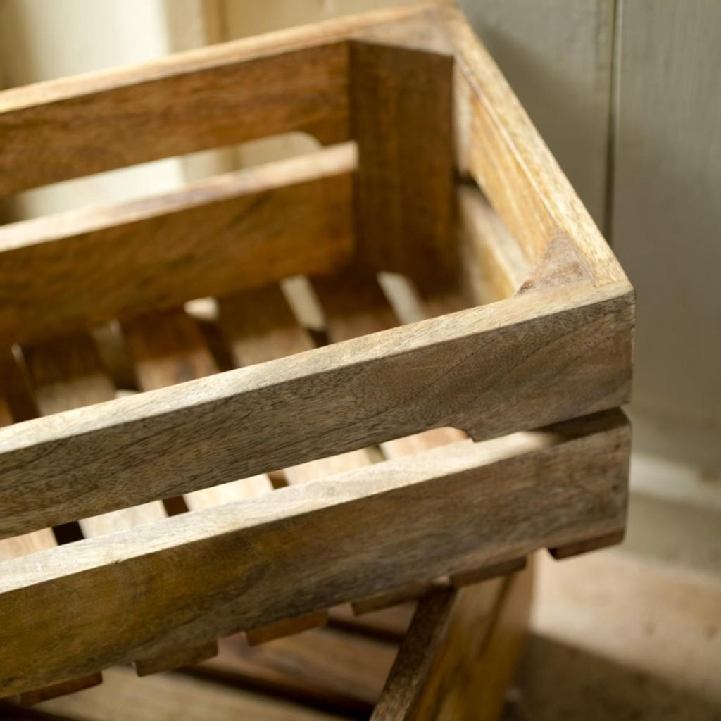 Les 2 caisses en bois de manguier - Nkuku