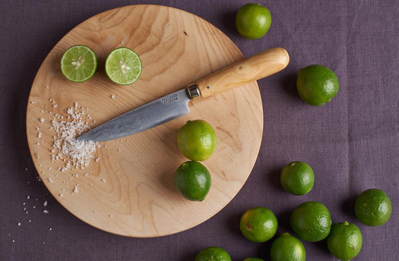 Le couteau de table inox et bois – Pallares Solsona