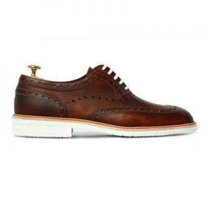 vue de cotée - Les chaussures en cuir fabriquées en France – Jacques et Déméter
