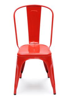 La chaise en métal rouge - Tolix