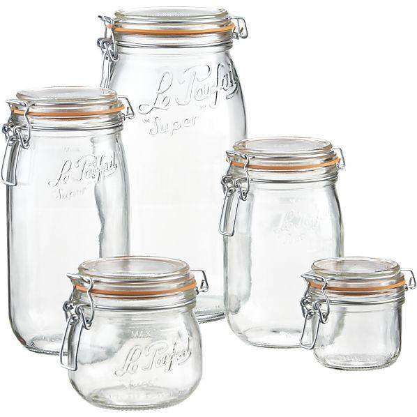 La collection de bocaux en verre - le parfait