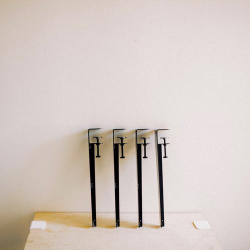 Les pieds de table en métal noir - The Floyd Leg