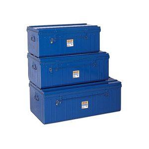 3 malles métallique bleu pierre henry PHSA kit
