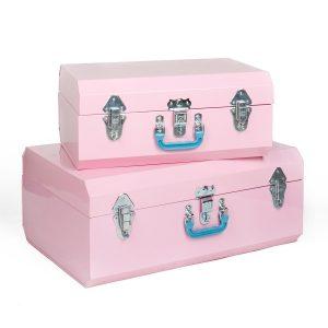 La malle en métal rose cubique - Lovely Market