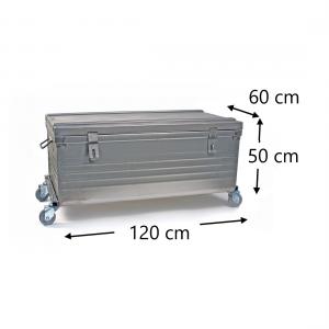 Malle sur roues dimensions - 120x60x50cm - 4 roulettes