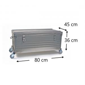 Malle sur roues dimensions - 80x45x36cm - 4 roulettes