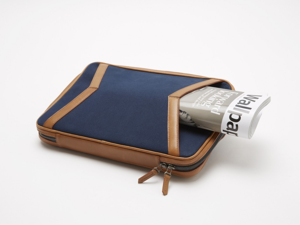 Porte document cuir avec magazine