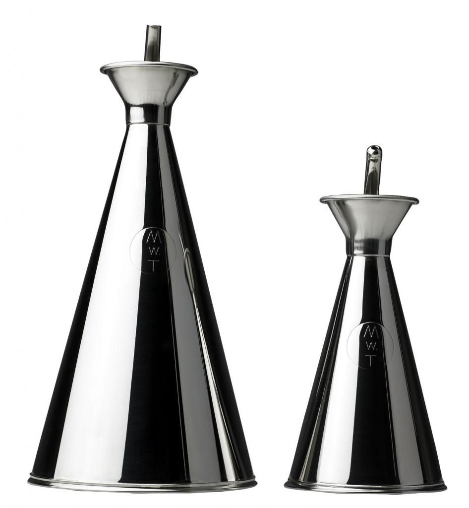 Vinaigrier et huilier en métal - Malle W. Trousseau