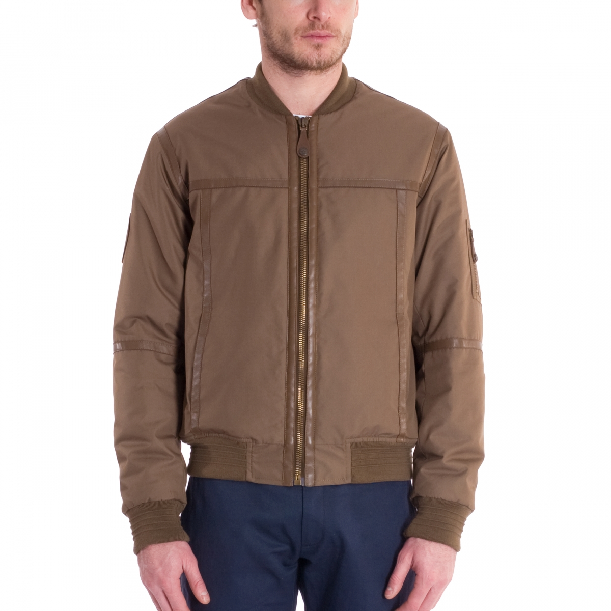 Le bomber aviateur en cuir made in France vue de face