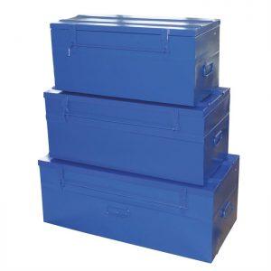 Kit de 3 malles bleues Cdiscount