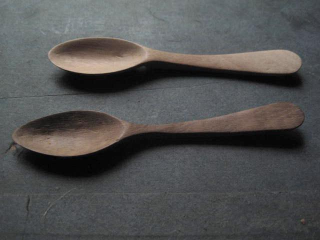 duo de cuillères de cuisine en bois kirsten hecktermann