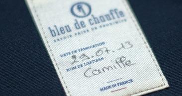 Etiquettes personnalisées de bleu de chauffe
