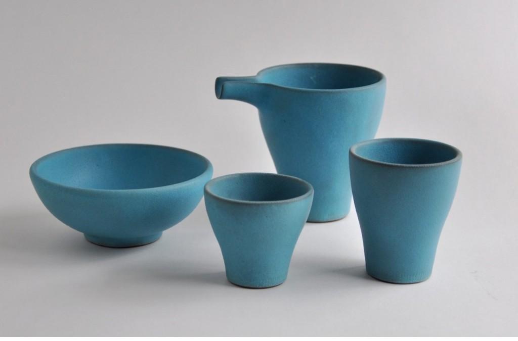 Vaisselle bleue en céramique artisanale japonaise – Keiichi Tanaka