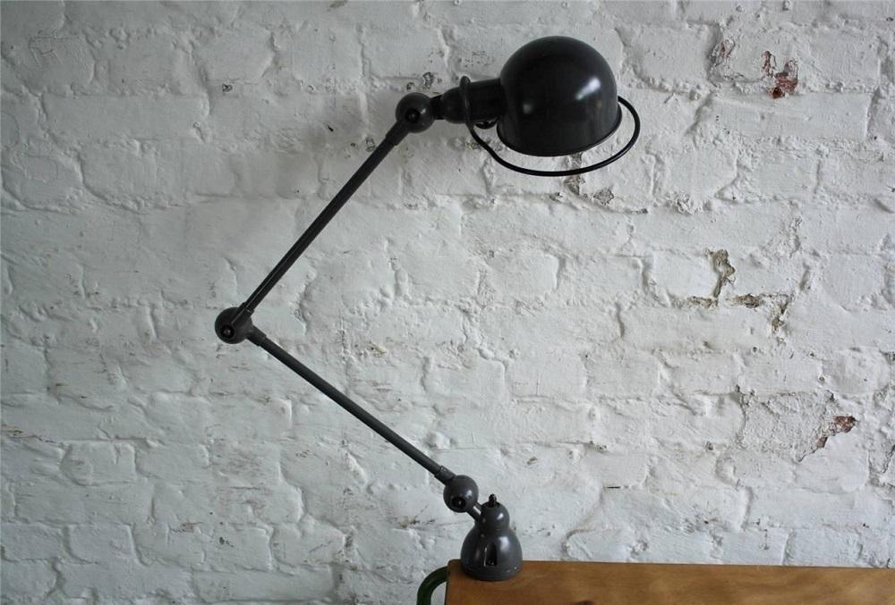 lampe jielde-2 bras étau noir loft