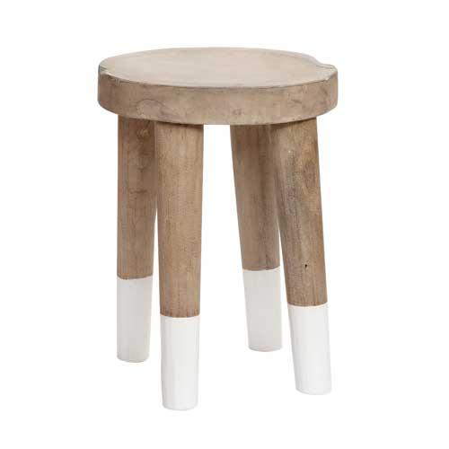 le tabouret en bois de manguier - packshot - Hübsch