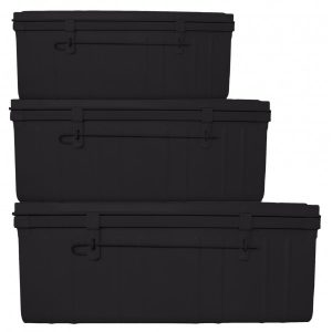 kit de 3 malles noires timelessdeco