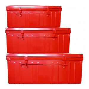 malles gigognes metal rouge