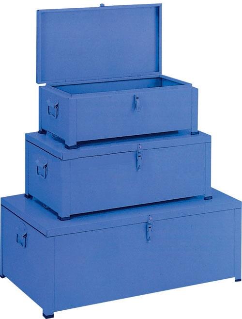Kit de malle en métal industrielle bleu - Airbank