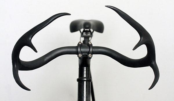Guidon de vélo en réel bois de cerf