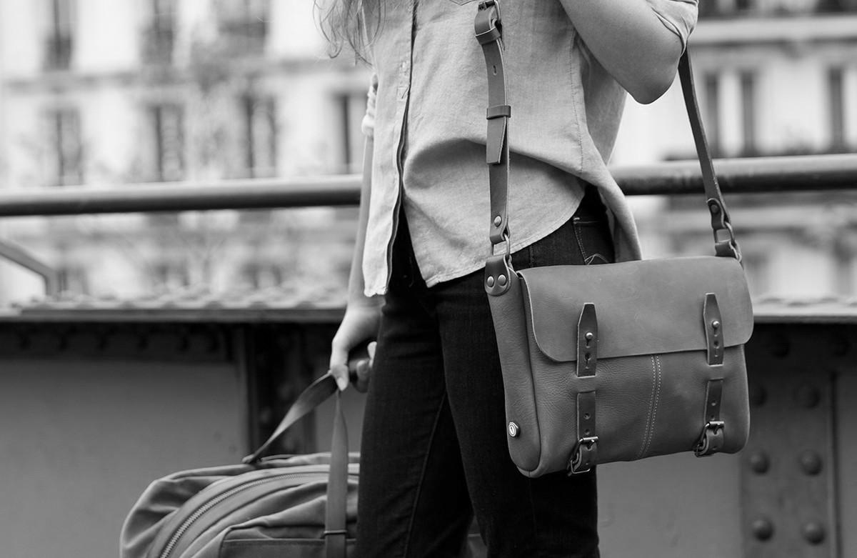 Le sac en cuir fabriqué en France – Bleu de chauffe