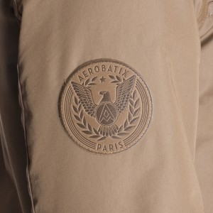 Le logo du bomber aviateur en cuir made in France aerobatix