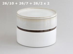 La petite vaisselle cylindrique et empilable en terre cuite - Adonde